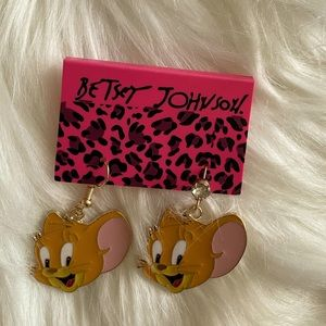 Betsey Johnson Tom and Jerry Earrings
